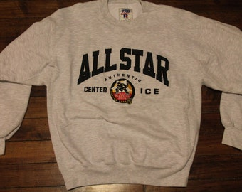 Boston Bruins crewneck sweatshirt 1996 NHL All star game hockey shirt jersey Large