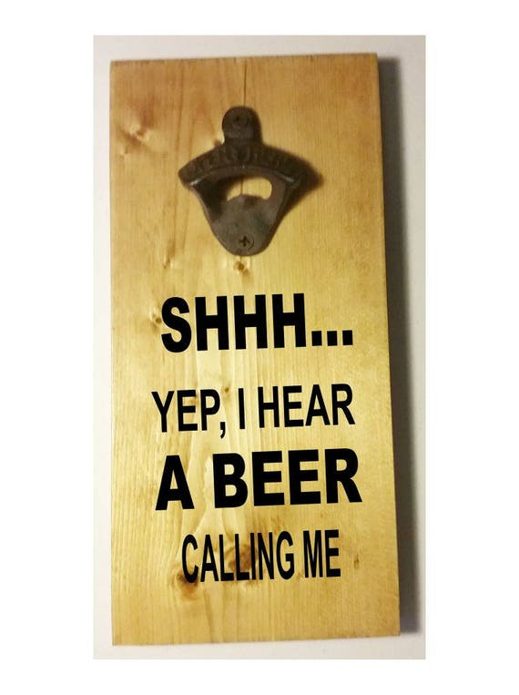 Groomsman gift, gift for Dad, Fathers Day gift, magnetic bottle opener, wall bottle opener, funny beer gift, boyfriend gift, wall decor,