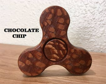 Addictive Fidget Spinner Toy - Wooden Fidget Spinner -  Stress Reliever - Chocolate Chip Fidget Spinners Collector's  Editions