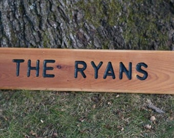 Rustic Carved Sign For Home, Camp, RV, Front Door, Mailbox, Barn, Stable