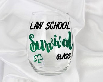 Law school gift, law school graduation, law school mug, law school gifts, law school student, lawyer to be, bar exam gifts, Name included