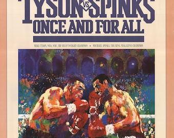 Leroy Neiman-Tyson vs. Spinks: Once and for All-1988 Poster