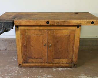 Antique Carpenters Workbench