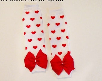 Heart Print Leg Warmers for Babies Toddler and Girls