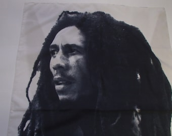 BOB MARLEY Scarf / POSTER Tour Scarf 1993/ Made in Italy/ Extra Large and Rare/ Vintage Bob Marley Scarf/ Walling Hanging