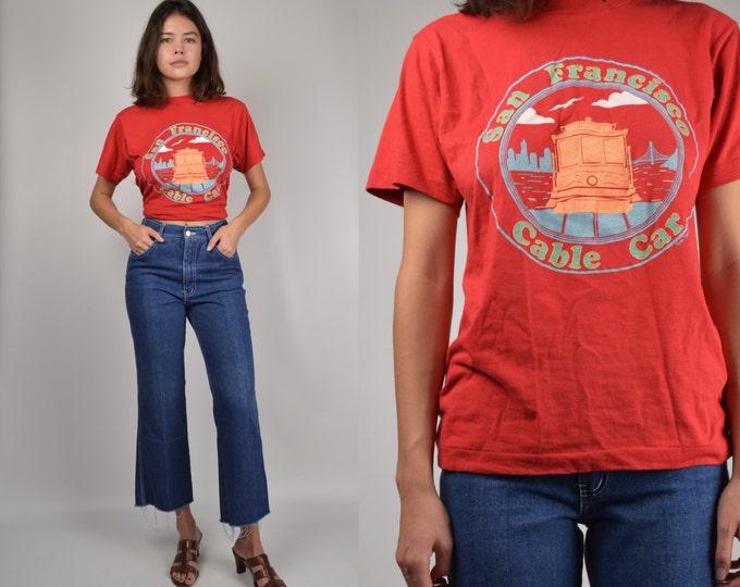 Vintage 50/50 T-shirt soft cotton tee San Francisco