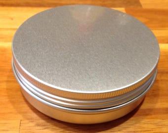 5 Round Tins, Lip Balm or Storage, 83 x 28mm, 100 ml Screw Top Tin, Blank Metal Tin