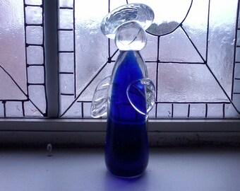 Cobalt Blue Glass Angel