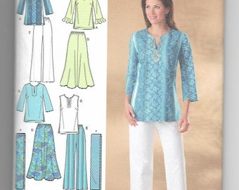 UNCUT Sewing Pattern Simplicity 4149 for Skirt, Pants, Tunic and Scarf, Sz 20W --28W