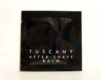 Vintage 1980s Tuscany by Aramis 0.12 oz After Shave Balm Sample Packet MEN'S FRAGRANCE