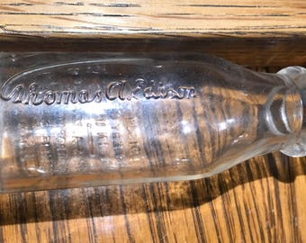 Antique Thomas Edison Battery Oil Bottle - Signature Series