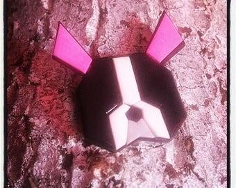 Broche origami staff