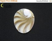 SALE 50% OFF Nautilus Shell oval egg cabochon 35x40mm