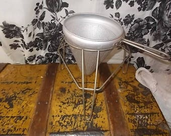 Colander Masher Strainer,  for Canning, Colander on Stand,