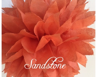 Tissue Paper Pom Poms: Sandstone -- Or Choose Your Colors-- Baby Shower/ Nursery/ Bedroom/ Party Decorations tissue pom