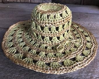 1960s Floppy Straw Hat, Beach, Summer Hat