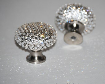 Swarovski Crystal Knob, Bling Cabinet Drawer Knob