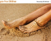 COACHELLA FESTIVAL SALE bronze beach wedding barefoot sandal, foot chain, bohemian sandal, anklet, ankle chain, foot bracelet, foot jewelry,