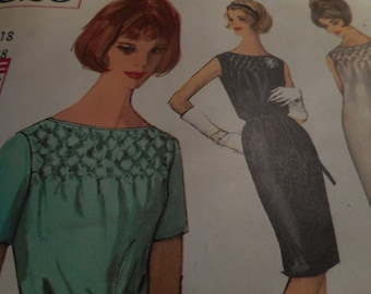 Vintage 1960's Simplicity 4826 Dress Sewing Pattern Size 18 Bust 38