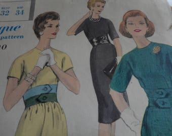 Vintage 1960's Vogue 4991 Special Design Dress Sewing Pattern, Size 12 Bust 32