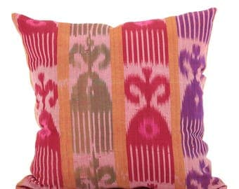 20 x 20 Pillow Cover Ikat Pillow Cover Old Ikat Pillow Cover Throw Pillow Decorative Pillow FAST SHIPMENT with ups or fedex - 09112