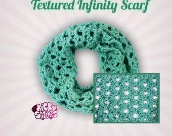 Textured Infinity Scarf Crochet Pattern