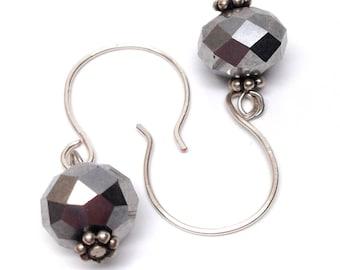 Metallic Silver Dangles - Free Shipping