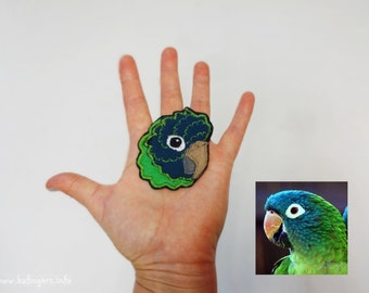 Your Bird Portrait Patch Personalized Custom Gift