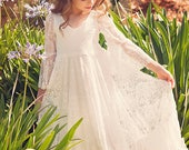 Boho-chic Girls Lace Dress for Lindsey Heinrich