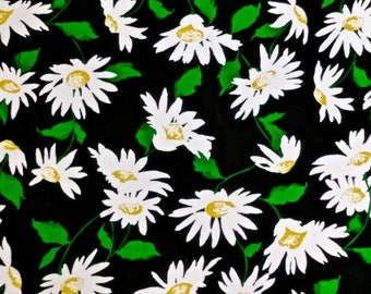 """Daisy Print Waffle Weave Fabric 2 yd and 35"""" long x 44"""" wide"""