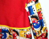 Child's Long Sleeve Art Smock - Sesame Street - Size Small - Ready to Ship