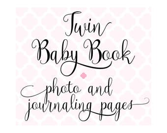 Set of 24 Extra Photo & Journaling Pages for Charmbooks TWIN Baby Memory Books
