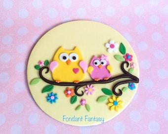 8 Inch Happy Owl Cake Topper