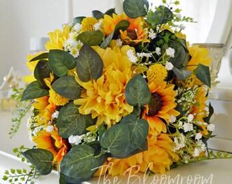 bright bouquet sunflower bouquet sunflowers yellow bouquet summer bouquet fall bouquet
