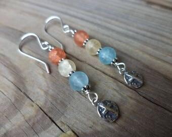 Cross Earrings Cross Jewelry Sterling Jewelry Christian Earrings Christian Jewelry Religious Earrings Colorful Earrings Made in USA