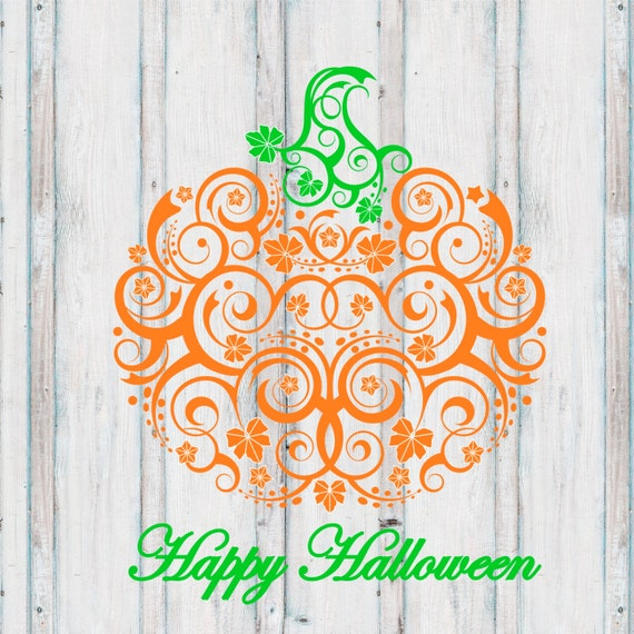 INSTANT DOWNLOAD Lace Pumpkin Happy Halloween  Thanksgiving Printable DIY Iron On to Tee T-Shirt Transfer - Digital File