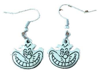 Alice in Wonderland inspired Cheshire Cat earrings