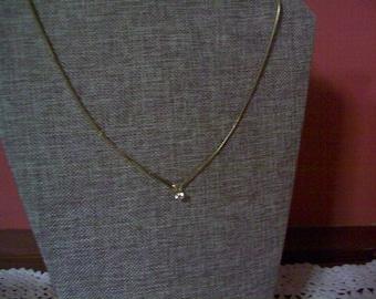 SALE Pretty Rhinestone necklace, estate jewelry, vintage necklace