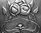 Rose & Thorns in Pewter
