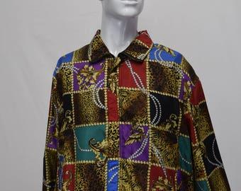 Versace Style Silk Bomber Jacket