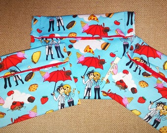 set of 3 RARE , 2 reusable snack bags, 1 sandwich bag, reusable goods, eco friendly, snack bags, cloudy with a chance of meatballs