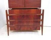 Vintage Credenza Dresser High Boy by William Hinn Sweden Edmund Spence Danish Modern