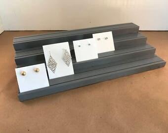 Tiered Earring Card Display / Earring Card Holder / Earring Card Organizer / Business Card Display / Jewelry Display Board