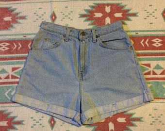 Vintage Levi's 954 Brand High Waist Rolled Denim Jean Shorts