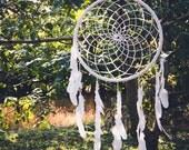 READY TO SHIP - Extra Large Dream Catcher for Wedding or Nursery Decor - Bohemian Decoration, Interior Design, Tribal Decor, Dreamcatcher