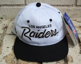 Deadstock LOS ANGELES RAIDERS 1980's vintage Sports Specialties Script Hat n.o.s. Snapback raiders hat 80's official nfl football nwa
