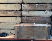 M329A1 M2 M30 Vintage Military Wood Ammo Crate.