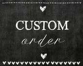 Custom framed Chalkboard for Casey, Stay Awhile