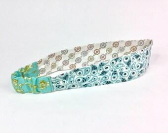 Large Cotton Print Reversible Headband