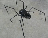 Spider metal recycled art
